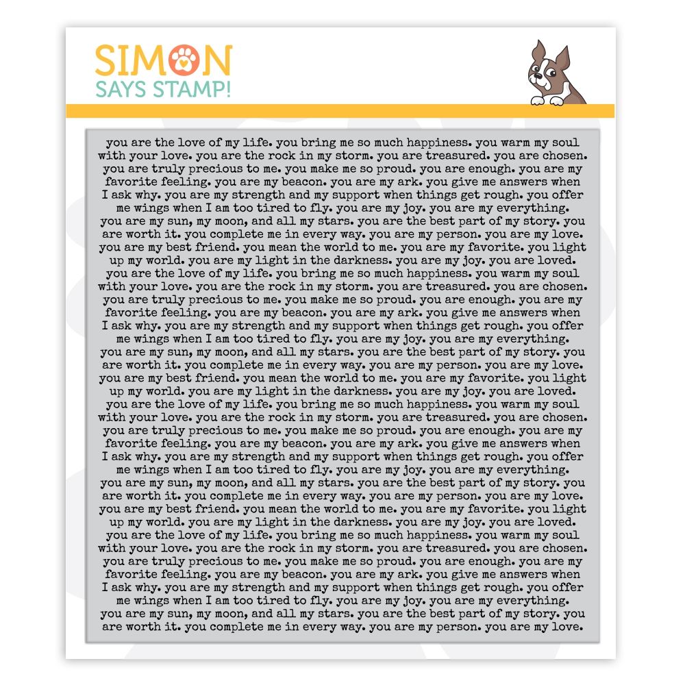 Simon Says Cling Stamp YOU ARE BACKGROUND sss102080 Love You More zoom image
