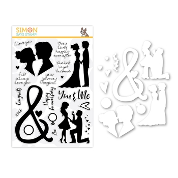 Simon Says Stamps And Dies YOU AND ME FOREVER set366ymf Love You More *