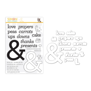 Simon Says Stamps And Dies AMPERSAND WORDS set364aw Love You More
