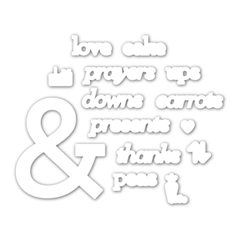 CZ Design Wafer Dies AMPERSAND WORDS czd76 Love You More
