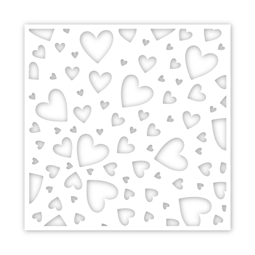 Simon's Exclusive Tumbling Hearts Stencil