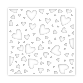 Simon Says Stamp Stencil TUMBLING HEARTS ssst121464 Love You More