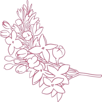 Couture Creations MINI LILACS Clear Stamp Peaceful Peonies co727401