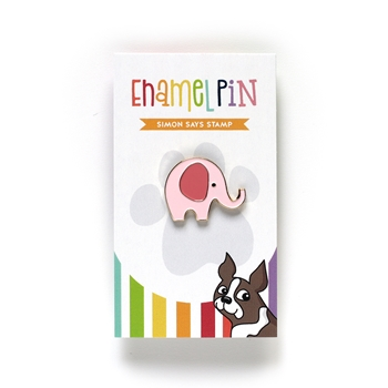 Simon Says Stamp ELEPHANT Enamel Pin EP1030 Love You More
