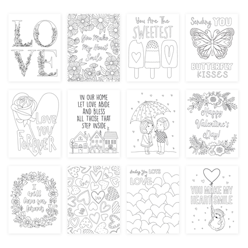 Simon Says Stamp Suzy's LOTS OF LOVE Watercolor Prints szwc19lv Love You More Preview Image