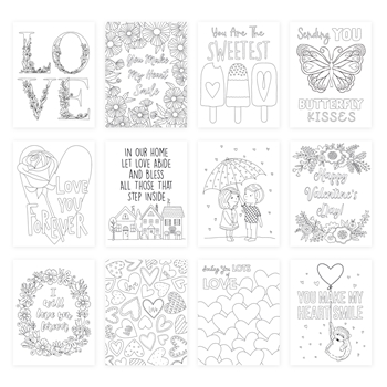 Simon Says Stamp Suzy's LOTS OF LOVE Watercolor Prints szwc19lv Love You More