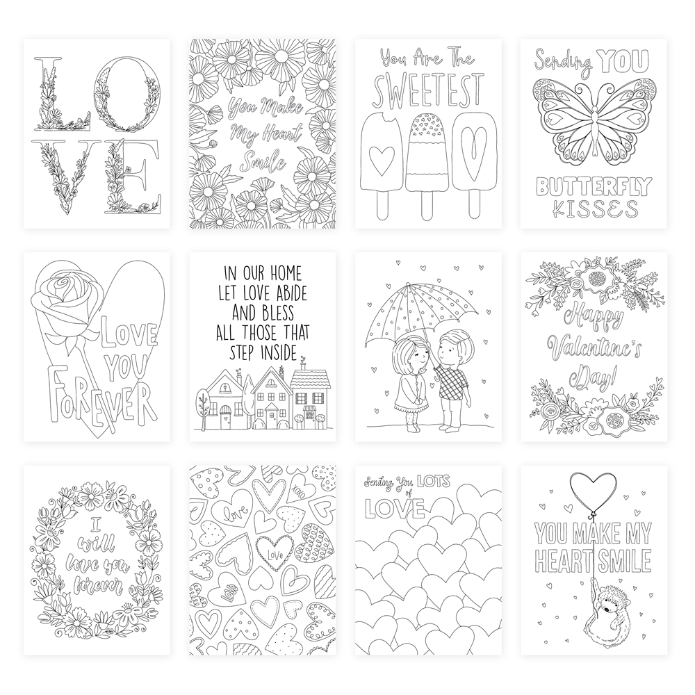 Simon Says Stamp Suzy's LOTS OF LOVE Watercolor Prints szwc19lv Love You More zoom image