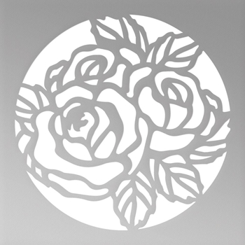 Couture Creations MINI FLORAL CIRCLE Die Peaceful Peonies co727396