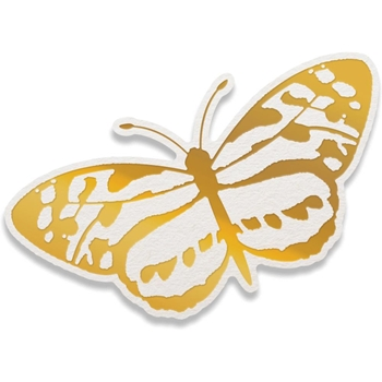 Couture Creations SPOTTED BUTTERFLY Cut, Foil, & Emboss Die Peaceful Peonies co727415
