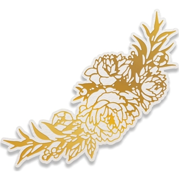 Couture Creations PEONY BOUQUET Cut, Foil, & Emboss Die Peaceful Peonies co727417
