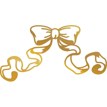 Couture Creations WAVING RIBBON Hotfoil Stamp Peaceful Peonies co727411