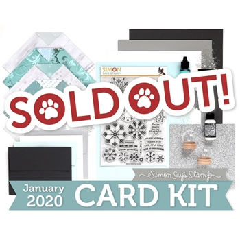 Simon Says Stamp Card Kit of The Month JANUARY 2020 SNOWFLAKE BUILDER ck0120