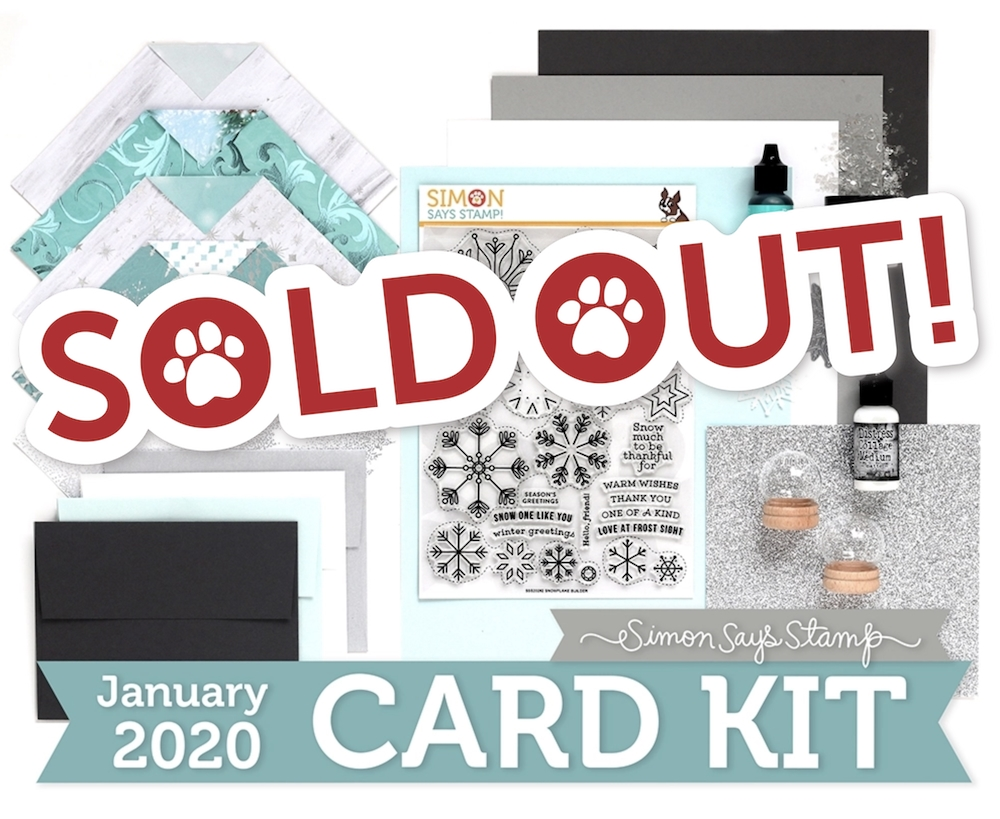Simon Says Stamp Card Kit of The Month JANUARY 2020 SNOWFLAKE BUILDER ck0120 zoom image