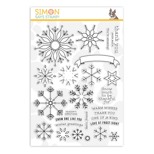 Simon's Exclusive Snowflake Builder Clear Stamp Set