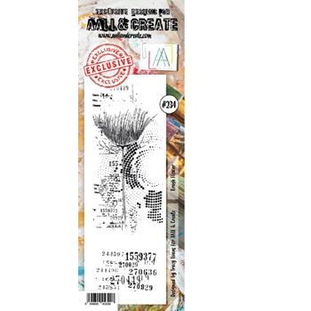 AALL & Create BRUSH FLOWER BORDER 234 Clear Stamp aal00234