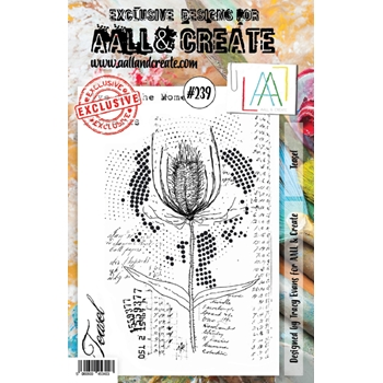 AALL & Create TEASEL A5 239 Clear Stamps aal00239