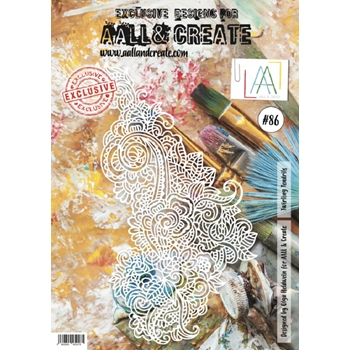 AALL & Create TWIRLING TENDRILS 86 Stencil A4 aal0086