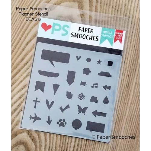 Paper Smooches PLANNER Artist Stencil DEAS13 Preview Image