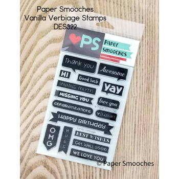 Paper Smooches VANILLA VERBIAGE Clear Stamps DES322