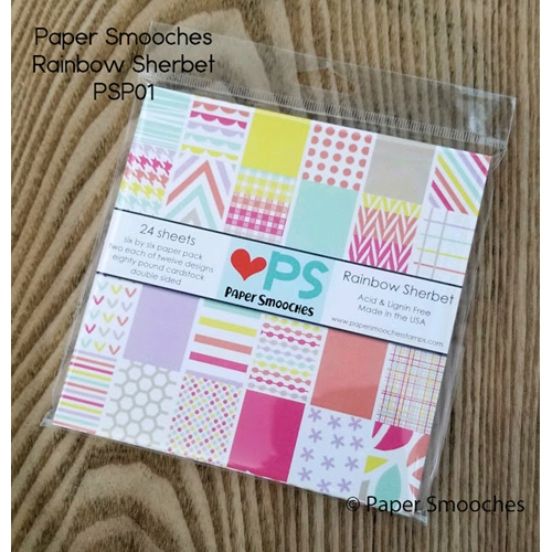 Paper Smooches RAINBOW SHERBET 6x6 Inch Paper Pack PSP01 Preview Image