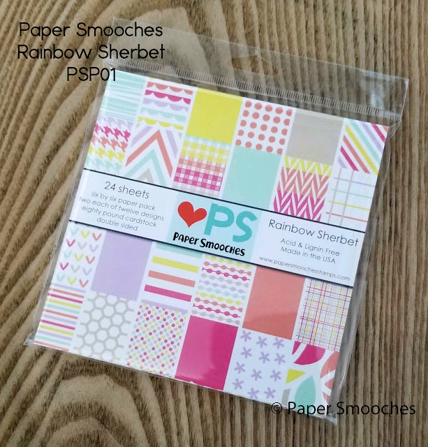 Paper Smooches RAINBOW SHERBET 6x6 Inch Paper Pack PSP01 zoom image
