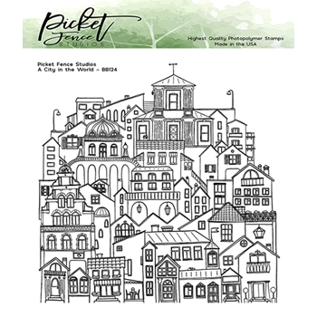 Picket Fence Studios A CITY IN THE WORLD Clear Stamp bb124
