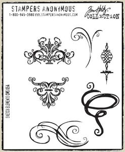 Tim Holtz Cling Rubber Stamps SKETCH ELEMENTS CMS054