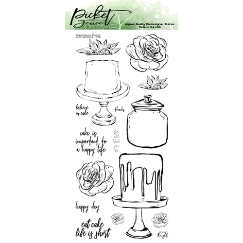 Picket Fence Studios LET'S DECORATE Clear Stamp Set t108 Preview Image
