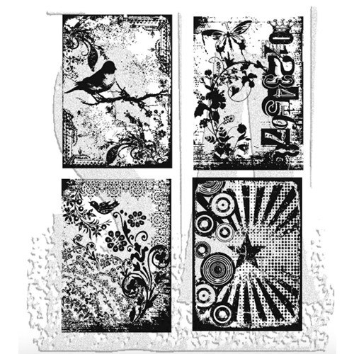 Tim Holtz Cling Rubber Stamps ECLECTIC PALETTE CMS055 Preview Image