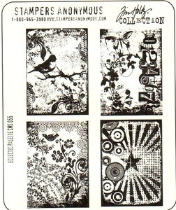 Tim Holtz Cling Rubber Stamps ECLECTIC PALETTE Stampers Anonymous zoom image