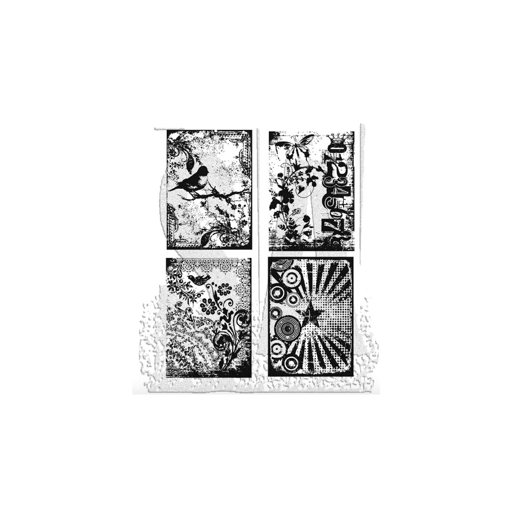Tim Holtz Cling Rubber Stamps ECLECTIC PALETTE CMS055 zoom image
