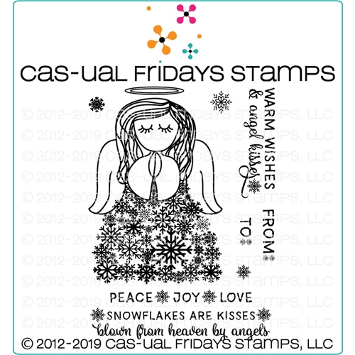 CAS-ual Fridays SNOW ANGEL Clear Stamps CFS1920 Preview Image