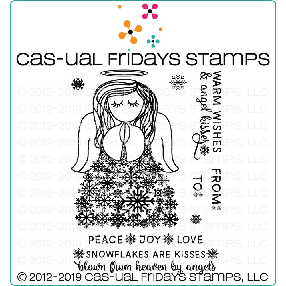 CAS-ual Fridays SNOW ANGEL Clear Stamps CFS1920 zoom image