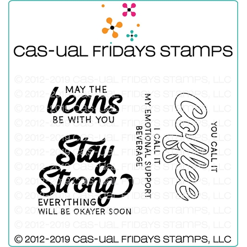 CAS-ual Fridays STAY STRONG Clear Stamps CFS1921 Preview Image