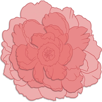 Couture Creations LARGE PEONY Peaceful Peonies Stamp And Die Set co727422