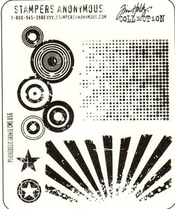 Tim Holtz Cling Rubber Stamps PSYCHEDELIC GRUNGE CMS056 Preview Image