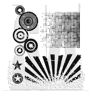Tim Holtz Cling Rubber Stamps PSYCHEDELIC GRUNGE CMS056