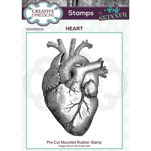 Creative Expressions HEART Andy Skinner Cling Stamp ceasrs023 Preview Image