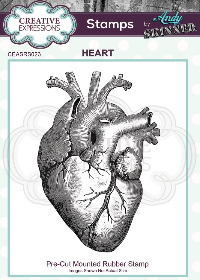 Creative Expressions HEART Andy Skinner Cling Stamp ceasrs023 zoom image