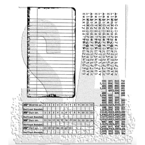 Tim Holtz Cling Rubber Stamps SCHOOL DESK CMS057 Preview Image
