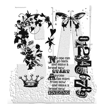Tim Holtz Cling Rubber Stamps FAIRYTALE FRENZY CMS058