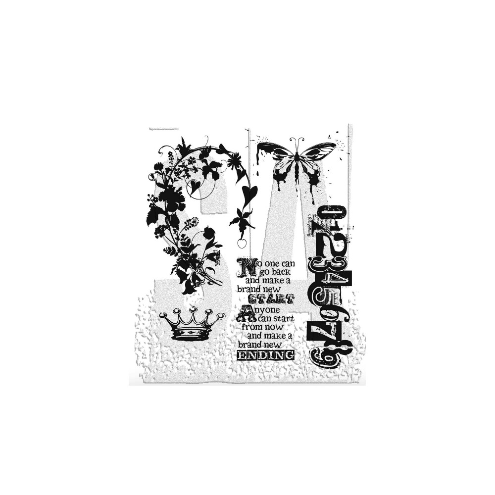 Tim Holtz Cling Rubber Stamps FAIRYTALE FRENZY CMS058 zoom image