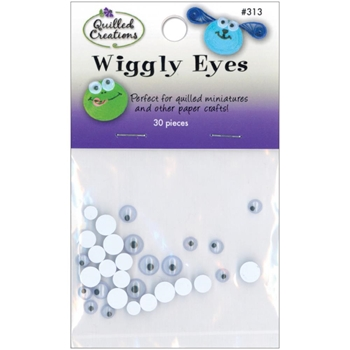 Quilled Creations WIGGLY EYES 30 Pack 00313
