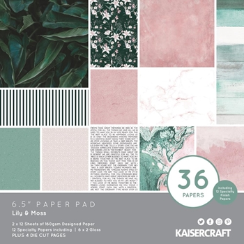Kaisercraft LILY AND MOSS 6.5 Inch Paper Pad PP1083