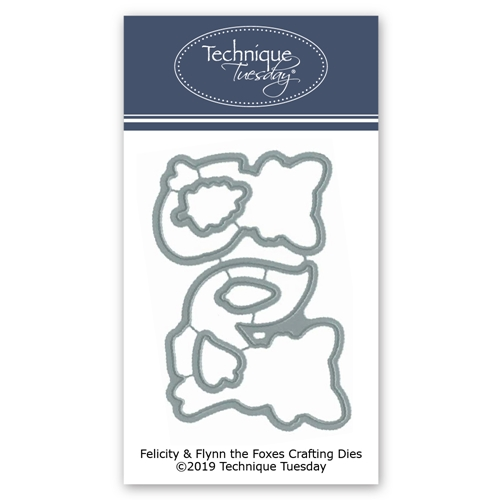 Technique Tuesday FELICITY AND FLYNN THE FOXES Craft Dies 02825 Preview Image
