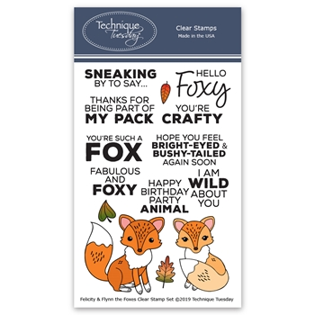 Technique Tuesday FELICITY AND FLYNN THE FOXES Clear Stamps 02824