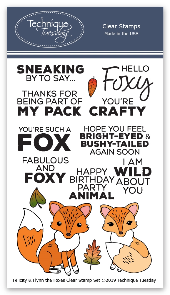 Technique Tuesday FELICITY AND FLYNN THE FOXES Clear Stamps 02824 zoom image