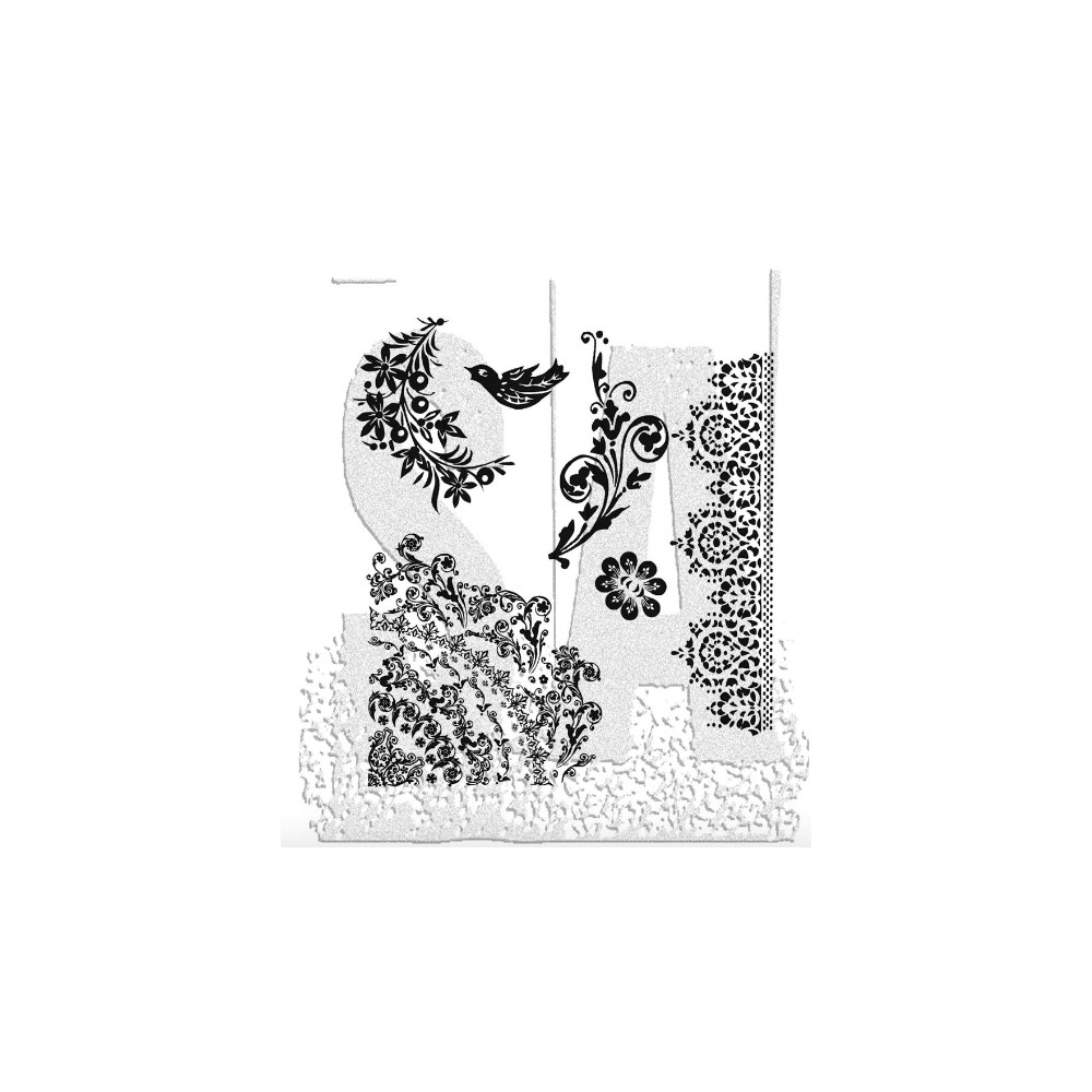 Tim Holtz Cling Rubber Stamps FLORAL TATTOO CMS059 zoom image