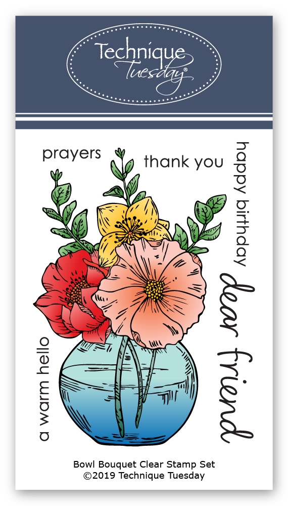 Technique Tuesday BOWL BOUQUET Clear Stamps 02822 zoom image