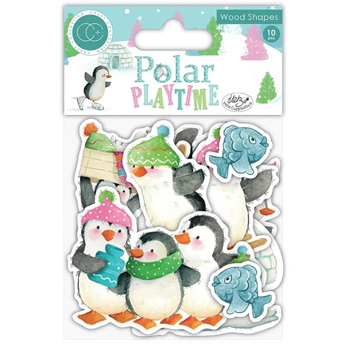 Craft Consortium POLAR PLAYTIME WOOD SHAPES CCADOT003 Preview Image